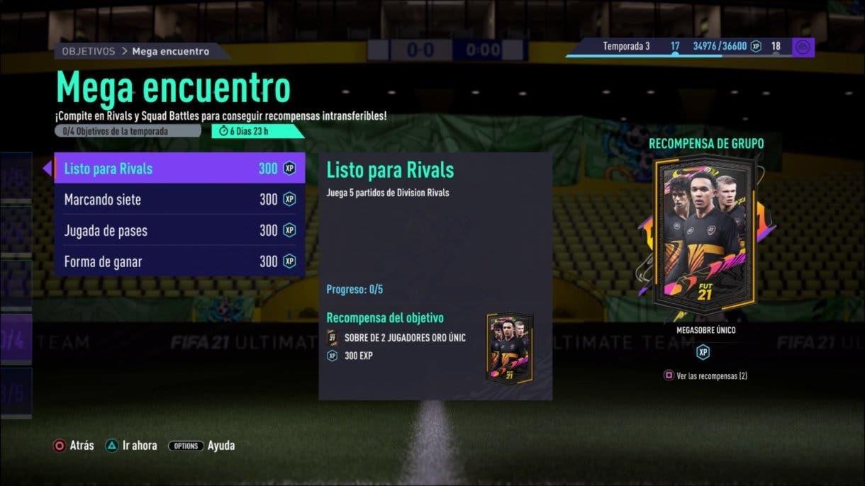 FIFA 21 Ultimate Team objetivos pack sobre Megasobre Único gratuito