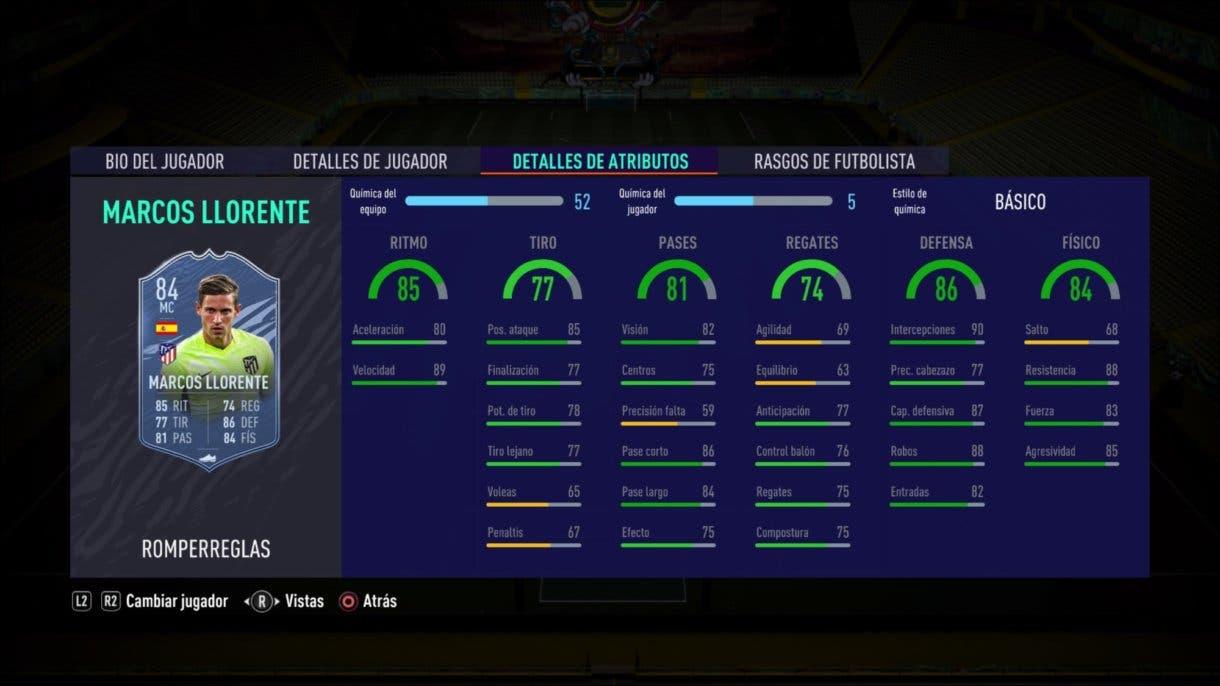 FIFA 21 Ultimate Team Marcos Llorente Rulebreakers mejores MCD´s