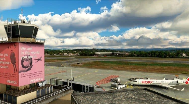 Imagen de Así de espectacular luce el Aeropuerto de A Coruña en Microsoft Flight Simulator