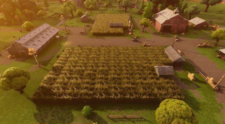 Imagen de Fortnite: Conduce un coche a través del campo de maíz de la Granja de Acero