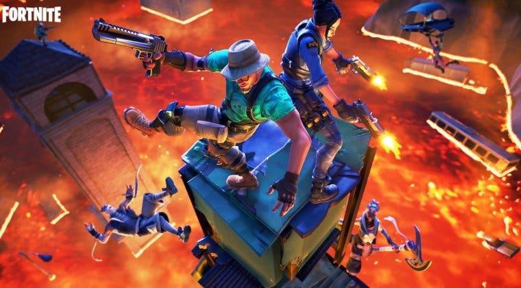Imagen de Así será el mapa de Fortnite en el torneo El suelo es lava de TheGrefg