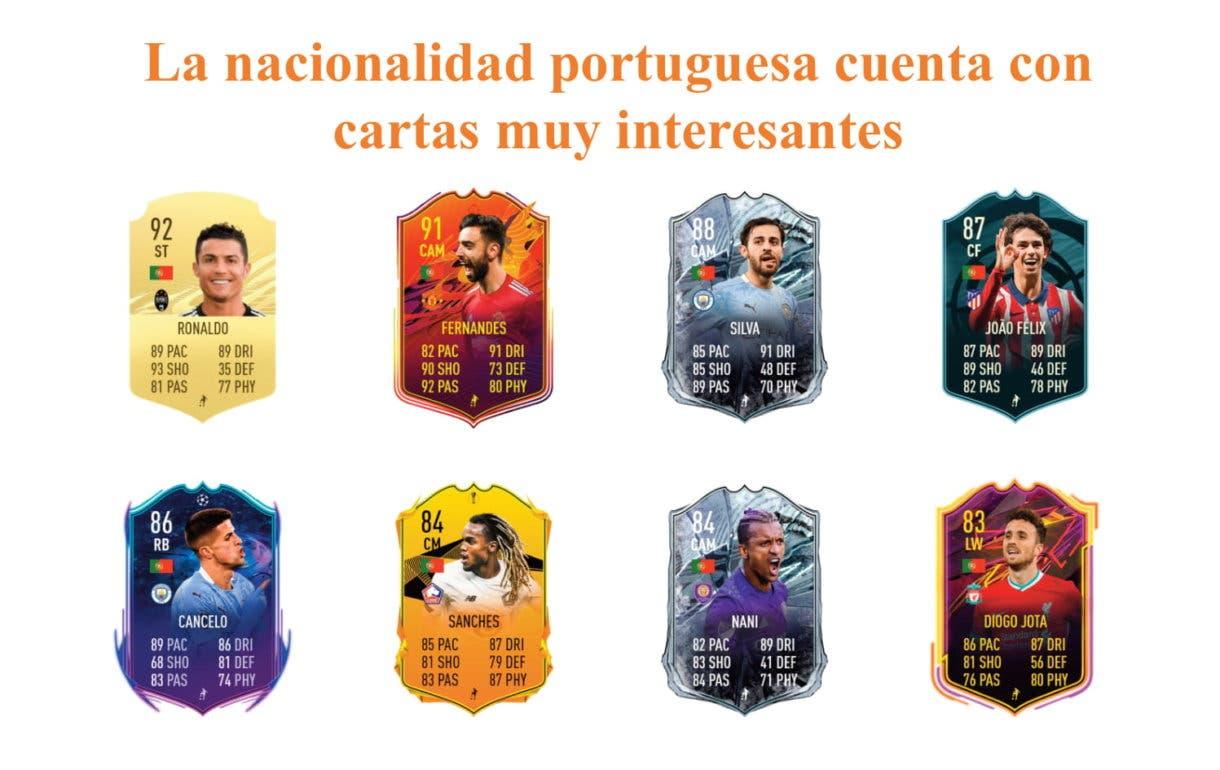 FIFA 21 Ultimate Team Gonzalo Guedes Jugador de Liga links naranjas