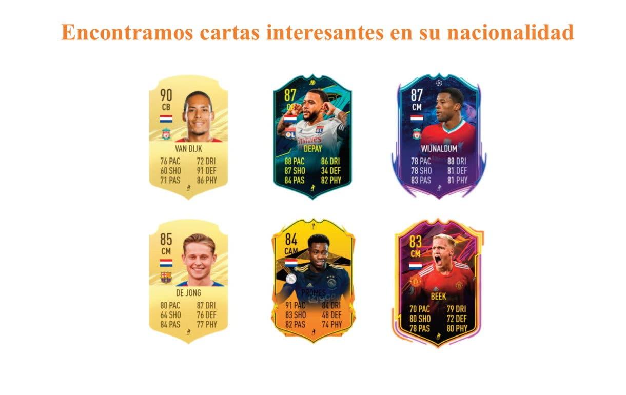 FIFA 21 Ultimate Team Sean Klaiber Showdown links naranjas
