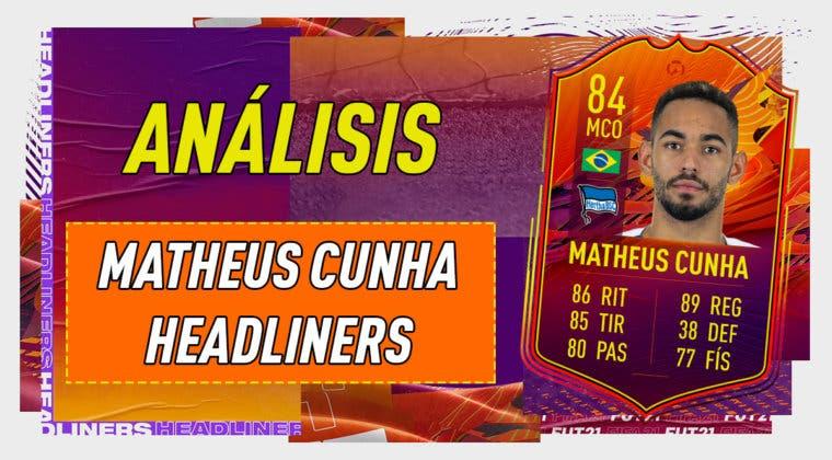 Imagen de FIFA 21: análisis de Matheus Cunha Headliner, la nueva carta free to play