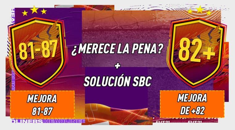 """Imagen de FIFA 21: ¿Merecen la pena los SBC's """"Mejora 81-87"""" y """"Mejora de +82""""?"""