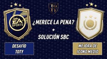 """Imagen de FIFA 21: ¿Merecen la pena los SBC's """"Desafío TOTY"""" 30-01-2021 y """"Mejora de icono medio""""?"""