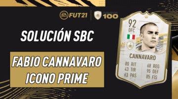 Imagen de FIFA 21: solución al SBC de Fabio Cannavaro Icono Prime