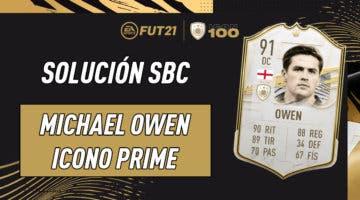 Imagen de FIFA 21: solución al SBC de Michael Owen Icono Prime