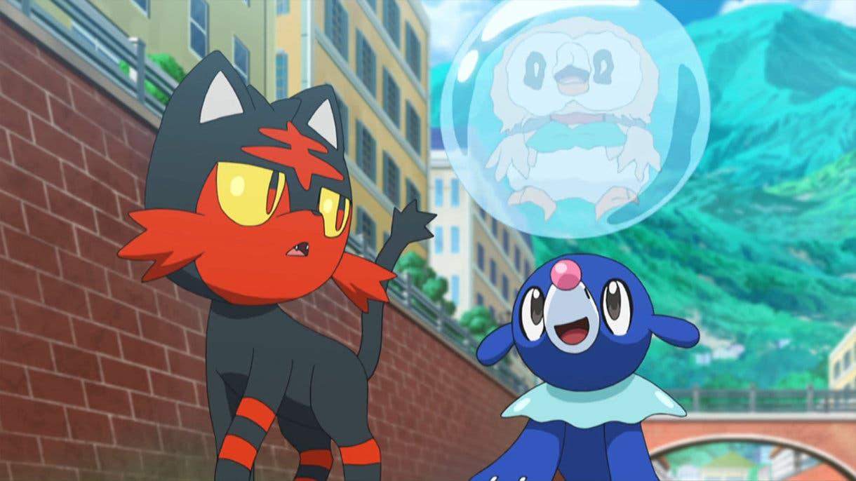 Rowlet Litten y Popplio Pokemon iniciales