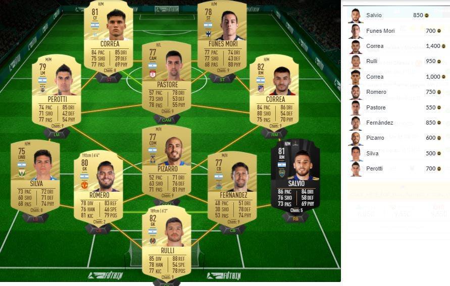 FIFA 21 Ultimate Team SBC Partidos de Marquesina 25-02-2021