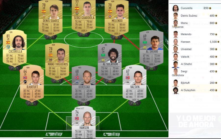 FIFA 21 Ultimate Team SBC Desafío What If