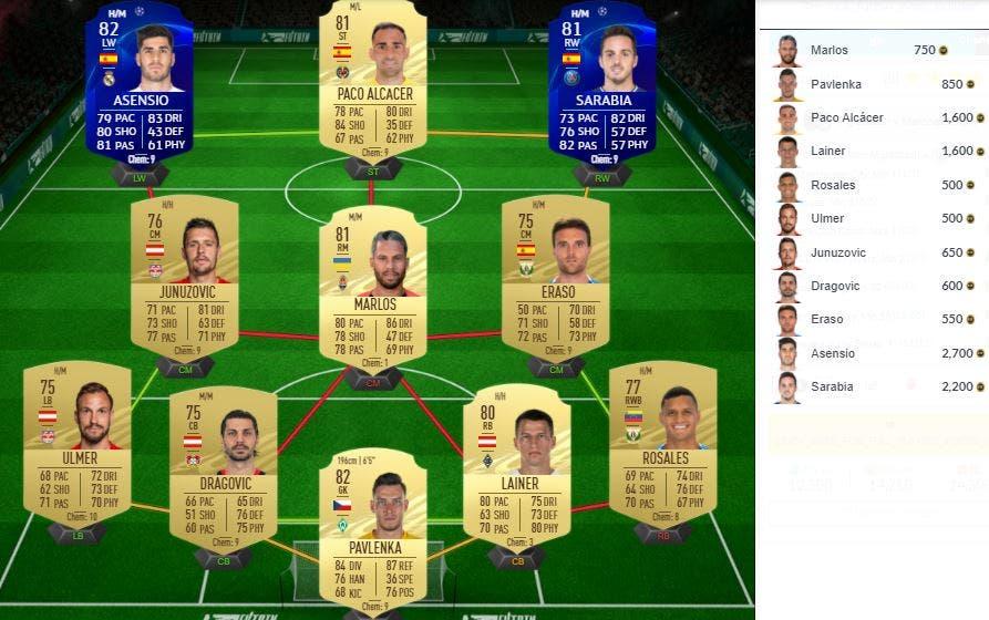 FIFA 21 Ultimate Team SBC Partidos Clave de la UEFA