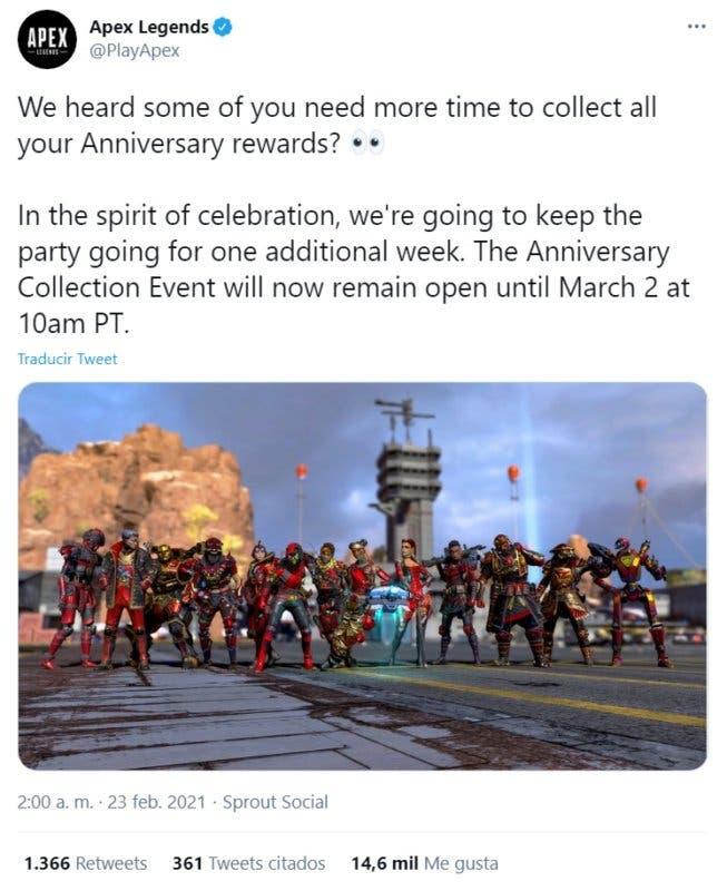 apex legends aniversario