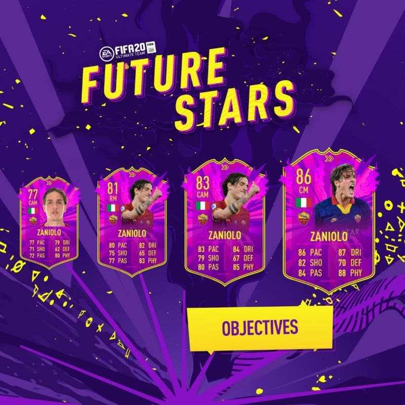 FIFA 21 Ultimate Team Future Stars evolución cartas free to play FIFA 20