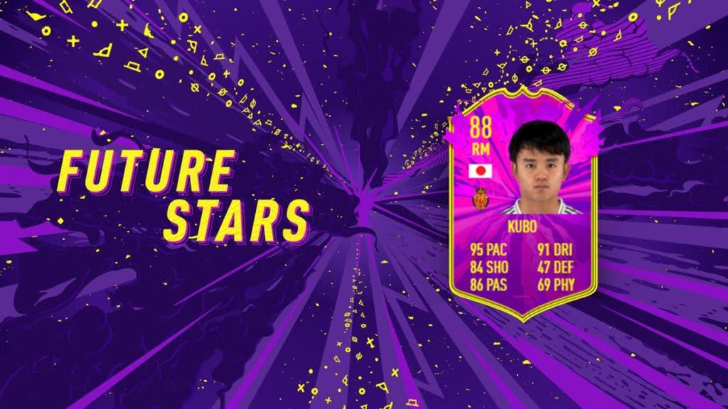 FIFA 21 Ultimate Team Future Stars ejemplo Kubo
