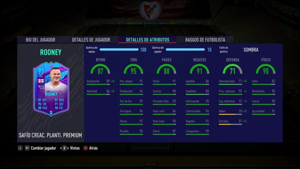 FIFA 21 Ultimate Team Rooney Fin de Una Era stats in game