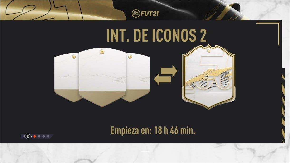 Pantalla de carga actual, que confirma la aparición de la segunda tanda de Icon Swaps. FIFA 21 Ultimate Team