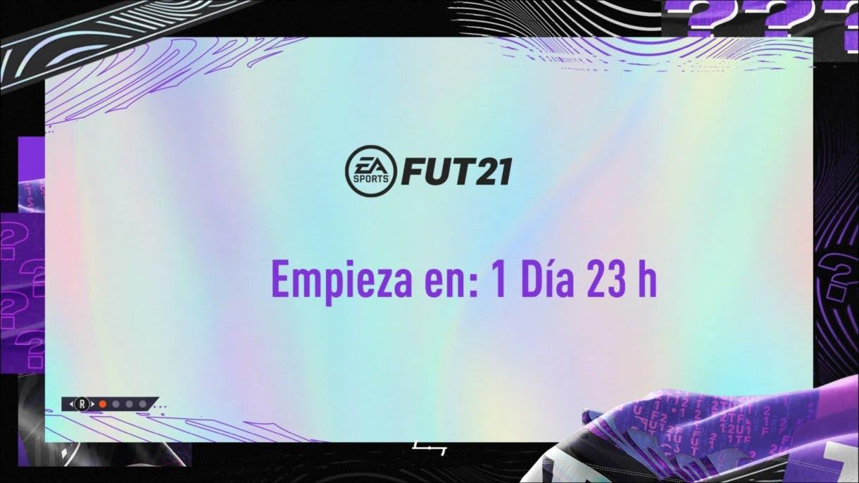 Actual pantalla de carga de FIFA 21 Ultimate Team. What If