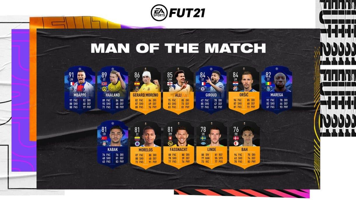 Primer lote de lectores MOTM.  FIFA 21 Ultimate Team