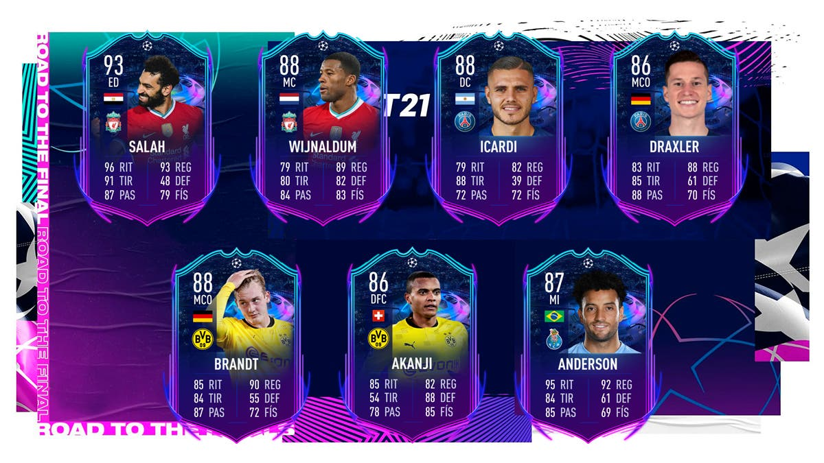 fifa 21 ultimate team rttf champions ida octavos actualizados
