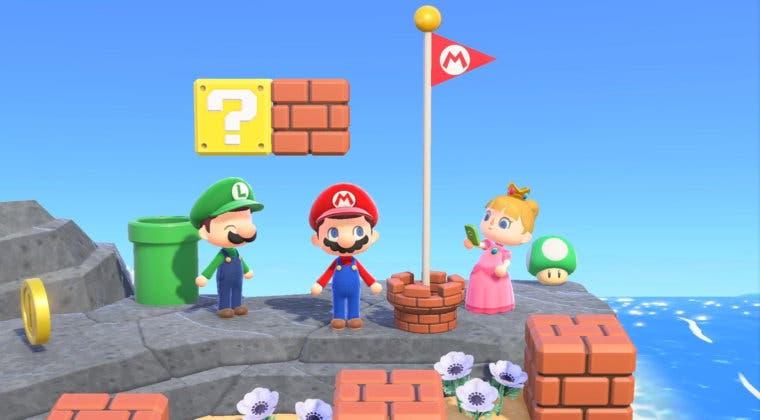 Imagen de Animal Crossing: New Horizons recibe a Mario este mes de febrero