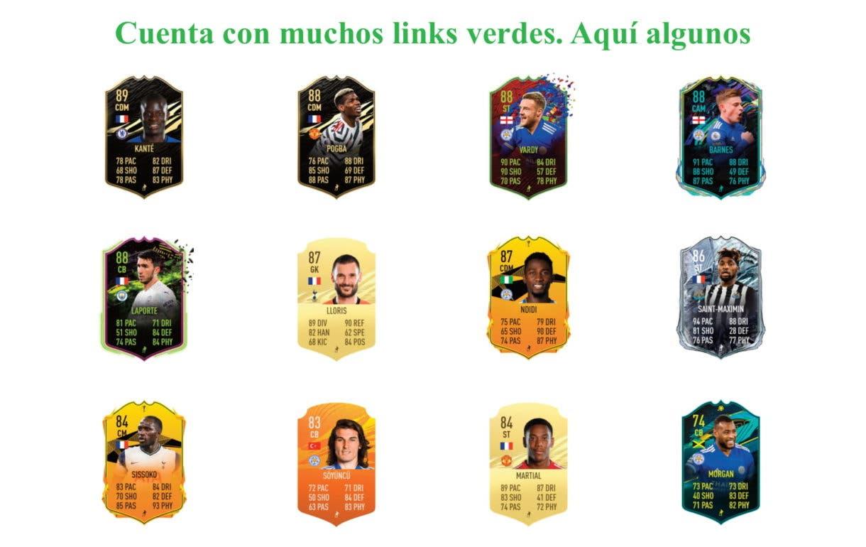 FIFA 21 Ultimate Team Fofana Future Stars links verdes.