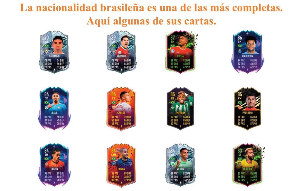 FIFA 21 Ultimate Team Bruno Guimaraes Future Stars links naranjas