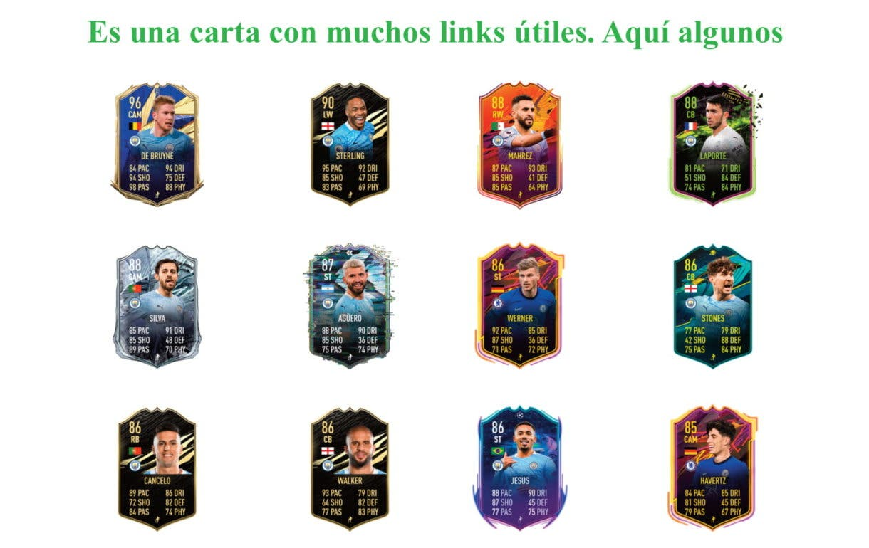 Gündogan POTM. FIFA 21 Ultimate Team, links verdes