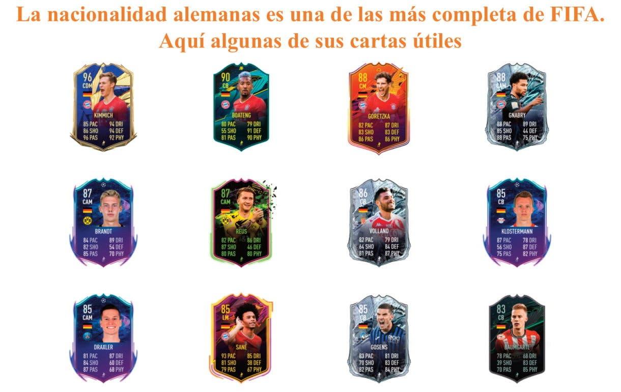 Gündogan POTM. FIFA 21 Ultimate Team, links naranjas