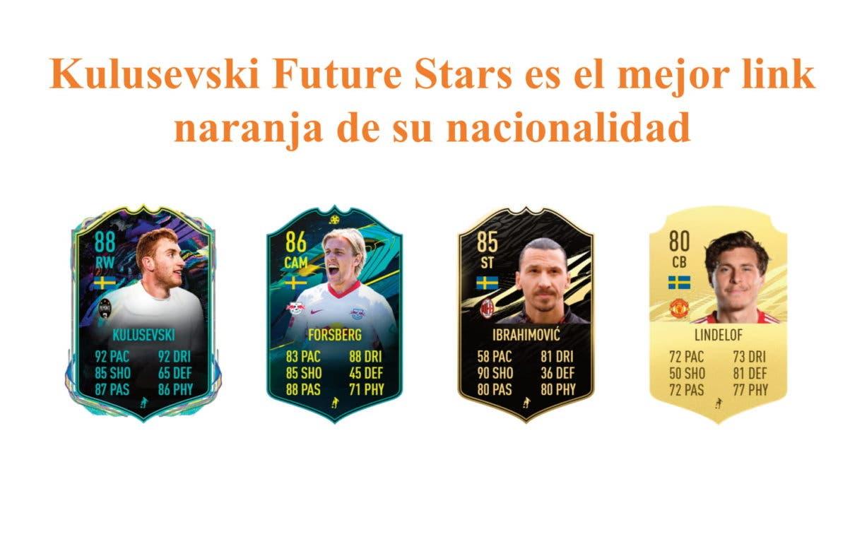 Alexander Isak Future Stars links naranjas FIFA 21 Ultimate Team