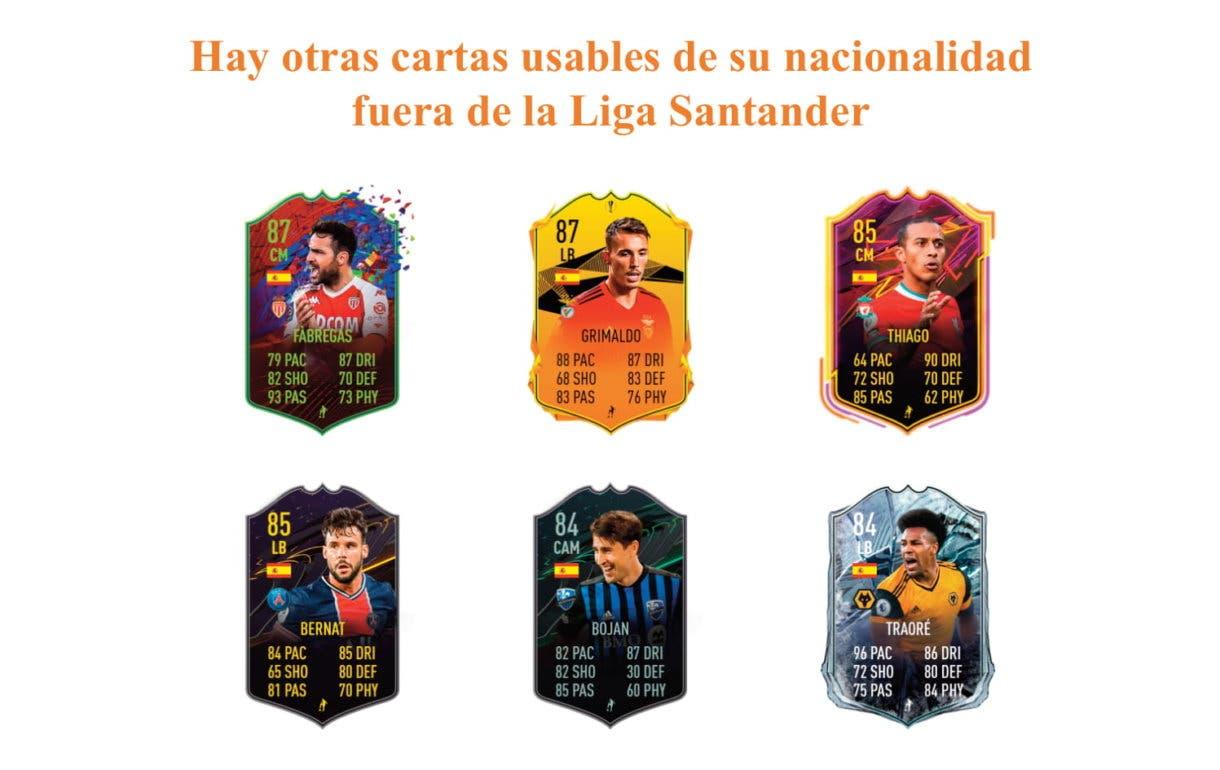 FIFA 21 Ultimate Team links naranjas de Cucurella Future Stars