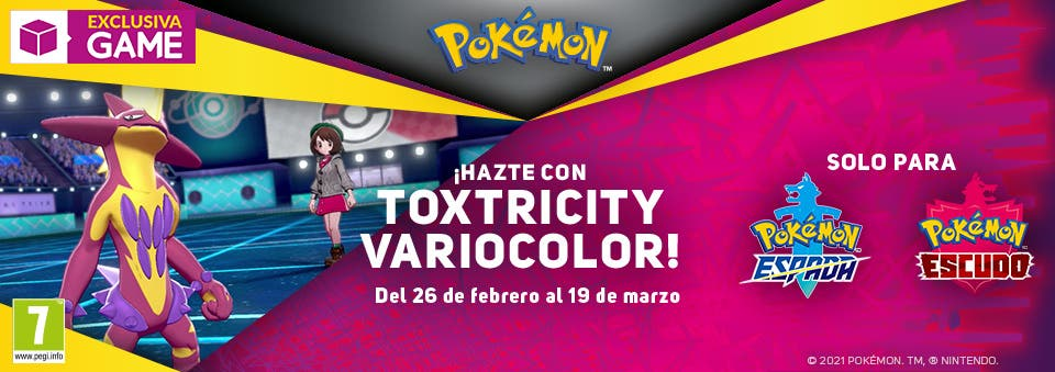 Pokemon Espada y Escudo Toxtricity shiny GAME