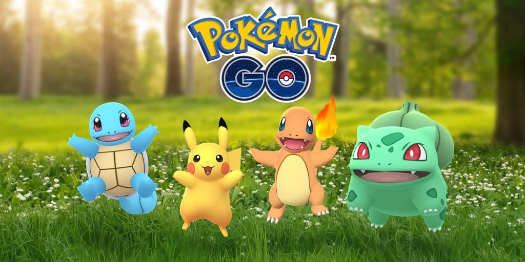 Pokemon GO Pikachu Bulbasaur Charmander Squirtle