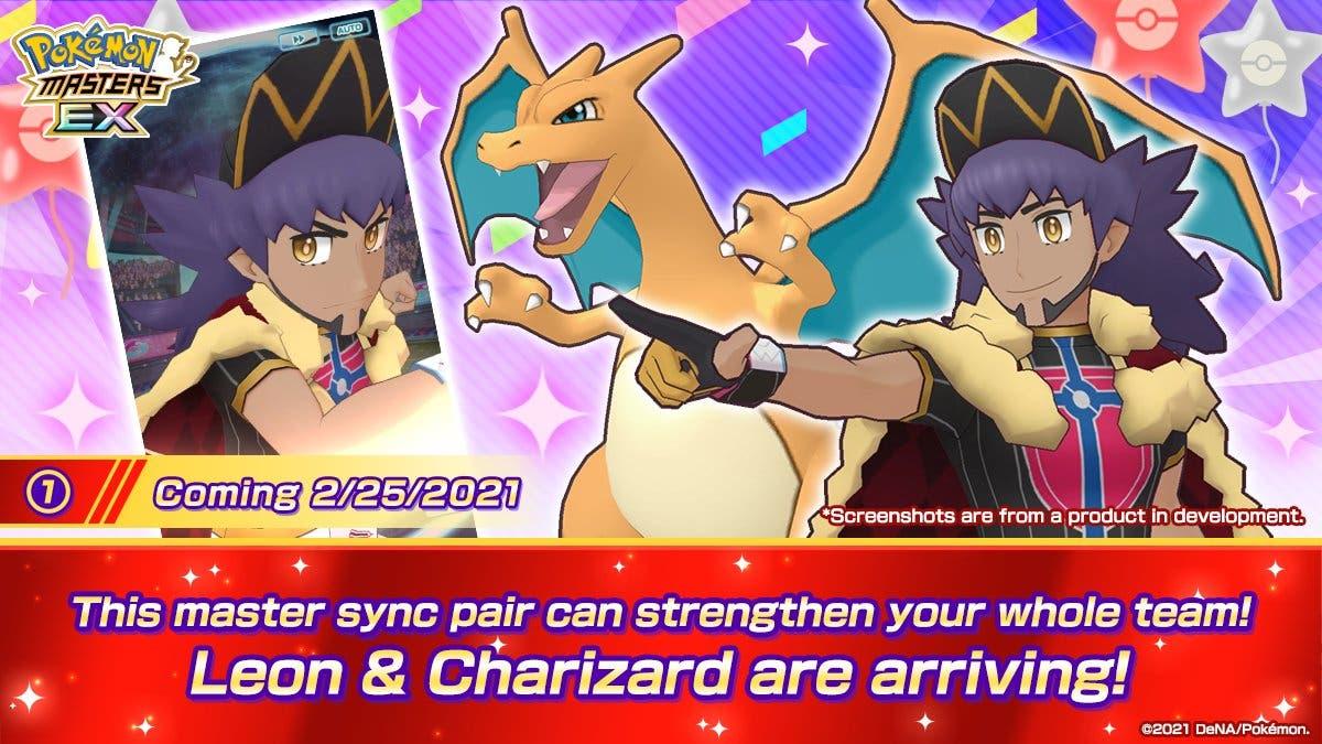 Pokemon Masters EX Lionel y Charizard