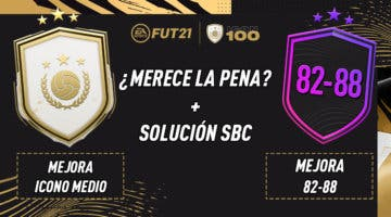 """Imagen de FIFA 21: ¿Merecen la pena los SBC's """"Mejora Icono medio"""" y """"Mejora 82-88"""" 18-02-2021?"""