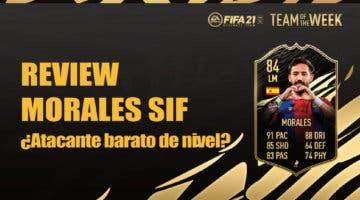 Imagen de FIFA 21: review de Morales SIF. ¿Es un atacante competitivo pese a su asequible precio?
