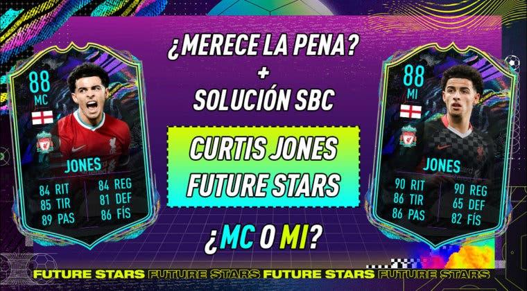 Imagen de FIFA 21: ¿Merece la pena Curtis Jones Future Stars? ¿Qué versión elijo? + Solución del SBC