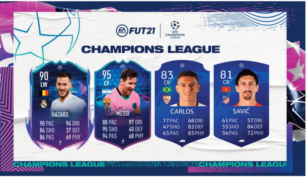 FIFA 21 Ultimate Team UCL tipos de cartas válidas (RTTF, TOTGS) Icon Swaps segunda tanda