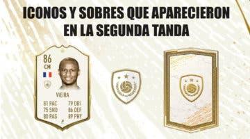 Imagen de FIFA 21: sobre y cartas free to play que aparecieron durante la segunda tanda de Icon Swaps el año pasado