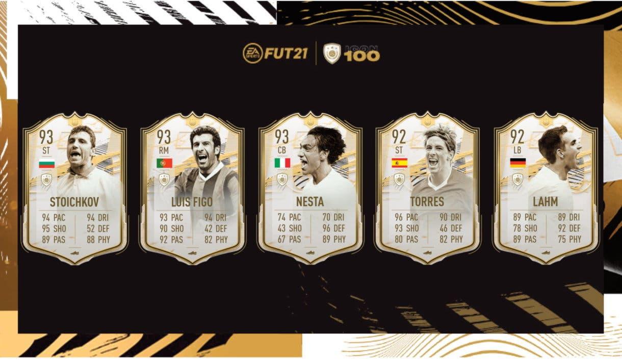 FIFA 21 Ultimate Team Iconos Moments Stoichkov, Figo, Nesta, Fernando Torres, Lahn