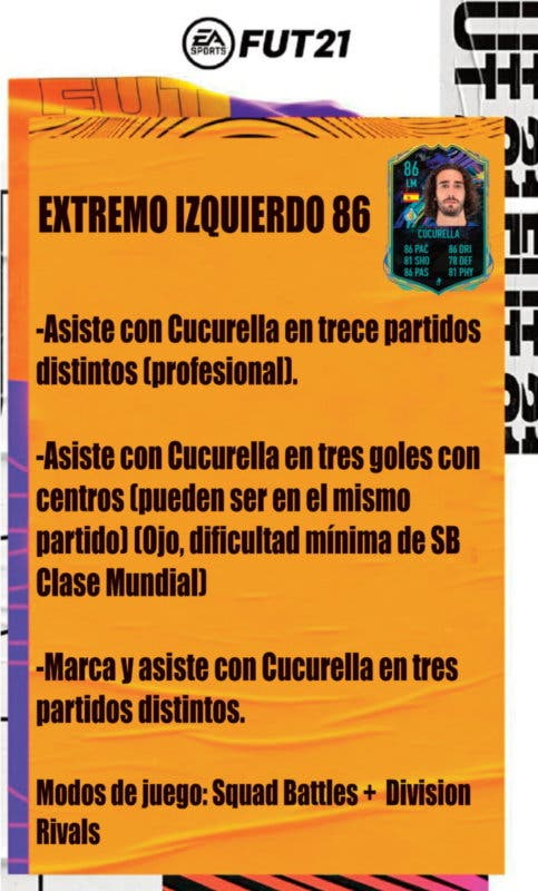 FIFA 21 Ultimate Team Guía Cucurella Future Stars