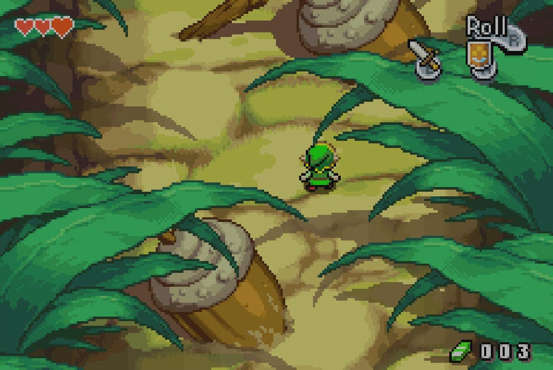 The Legend of Zelda The Minish Cap ingame mundo diminuto