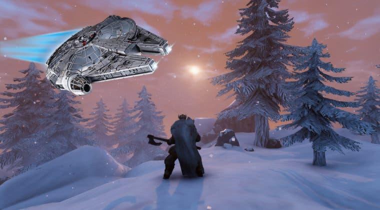 Imagen de Un jugador de Valheim construye el Halcón Milenario de Star Wars en el juego