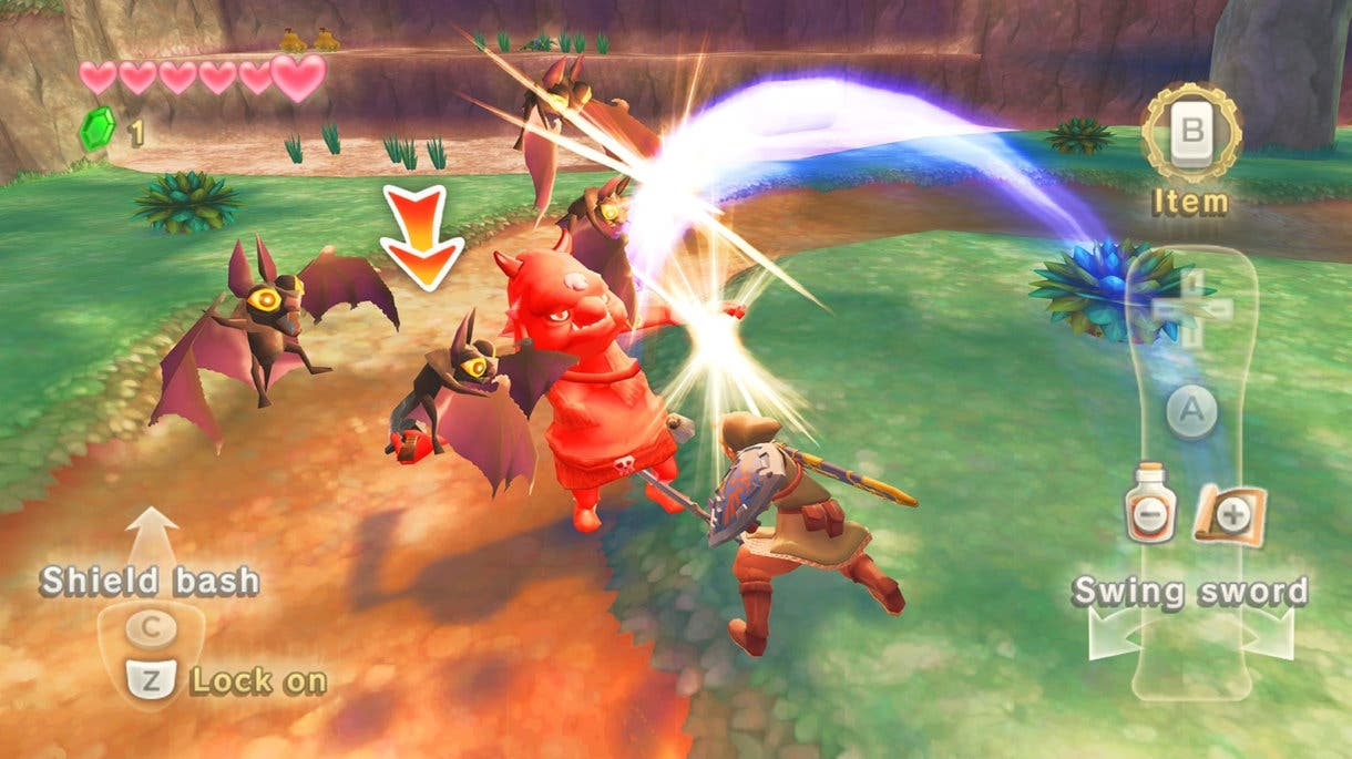 Zelda Skyward Sword ingame