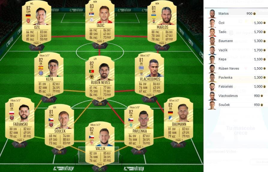 FIFA 21 Ultimate Team SBC Mejora What If