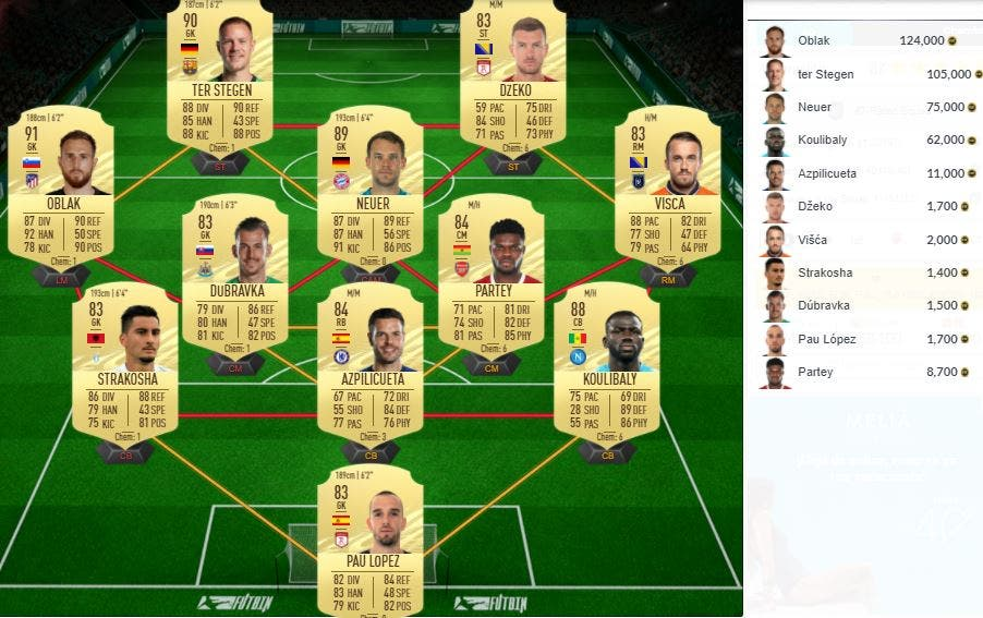 FIFA 21 Ultimate Team SBC Elección de Icono Medio o Prime