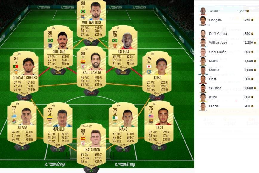 FIFA 21 Ultimate Team SBC Sorpresa Nazaríes