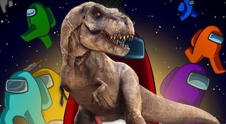 Imagen de Un mod de Among Us permite que los impostores se conviertan en un T-Rex