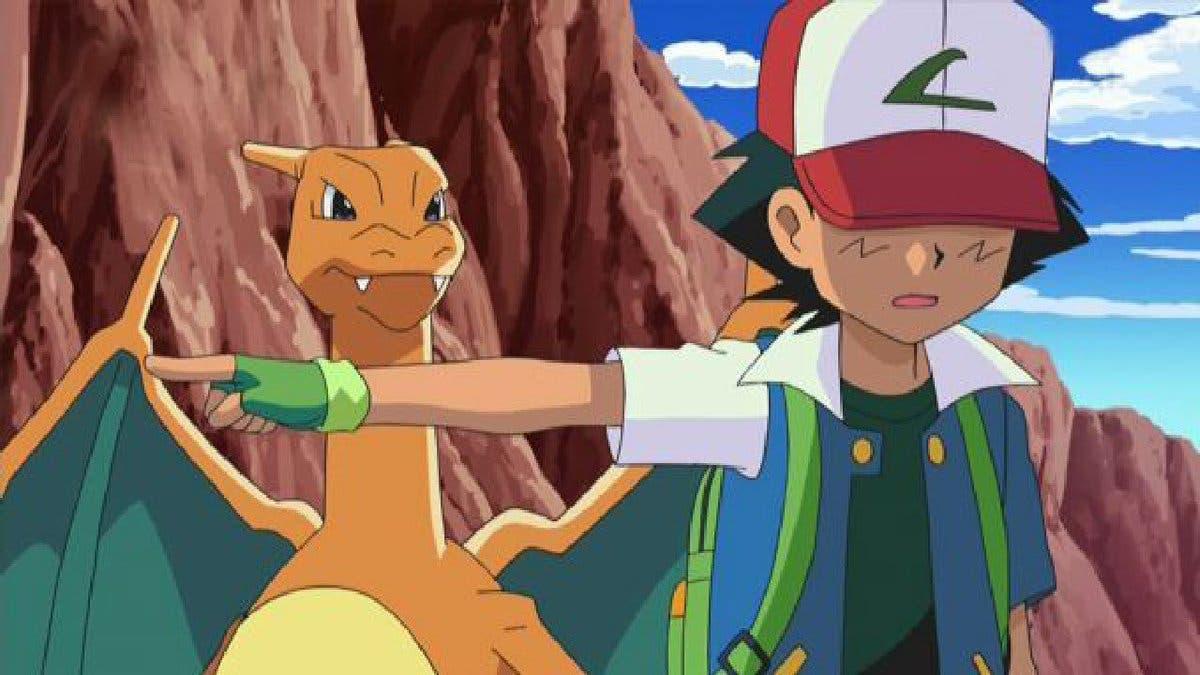 anime de Pokemon Charizard de Ash despedida