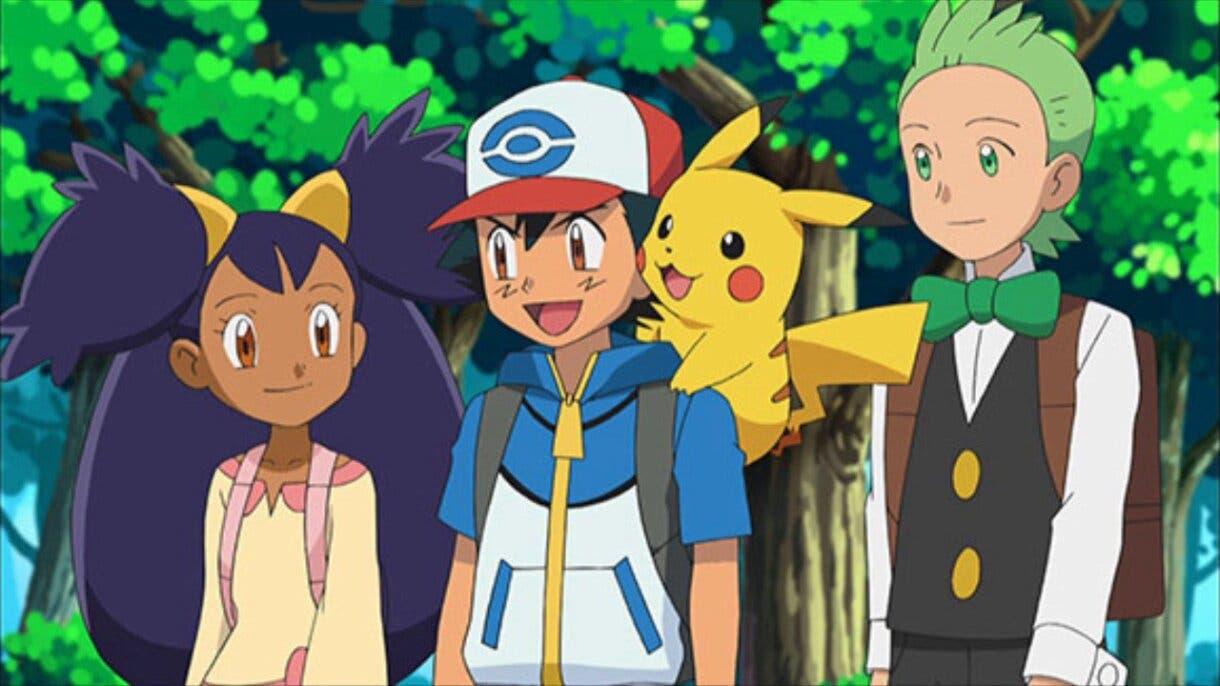 anime de Pokemon Teselia Ash Iris Millo